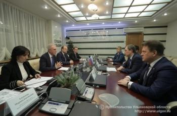 4 декабря Губернатор Ульяновской области провёл встречу с председателем Поволжского банка ПАО Сбербанк Александром Анащенко.